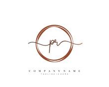 PR Initial Handwriting Logo Te...