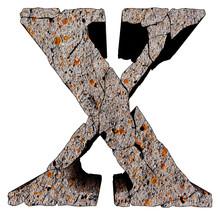 Broken Stone Grunge Letter Iso...