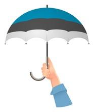 Estonia Flag Umbrella