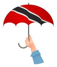 Trinidad And Tobago Flag Umbrella