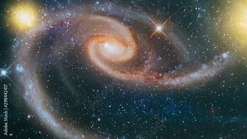 Far Being Shone Nebula And Star Field Against Space Nebula Night