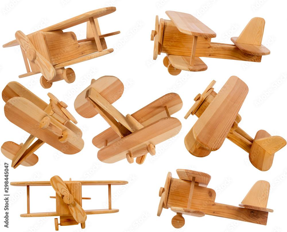 Fototapety, obrazy: Wooden children's airplane