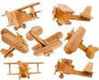 Leinwandbild Motiv Wooden children's airplane