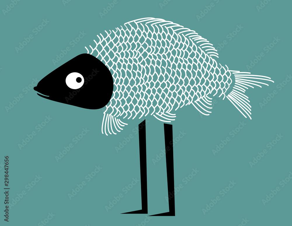Fototapeta Funny fish