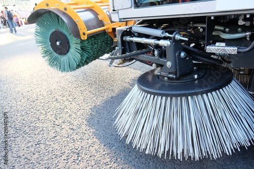 Routine sweeping of municipal streets and highways Wallpaper Mural