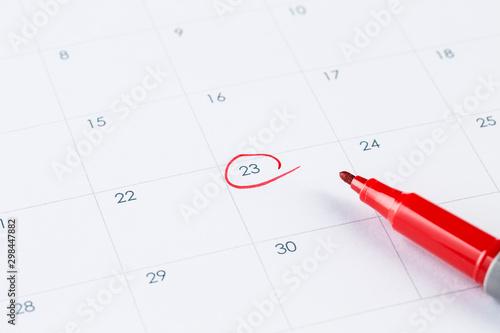 Fotomural  Calendar and pen