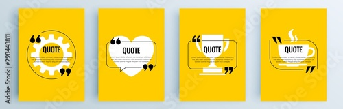 Fotografía  Quote frames blank templates set