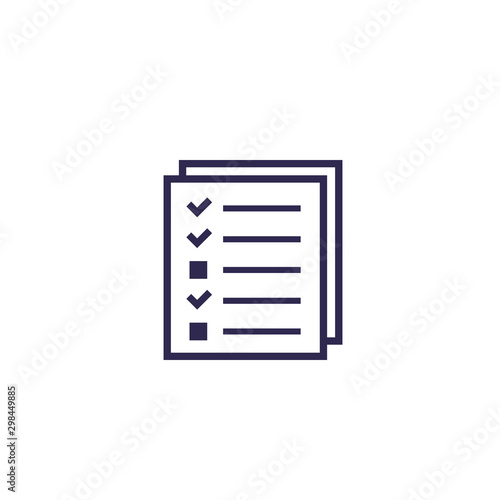 test, survey icon on white Canvas Print