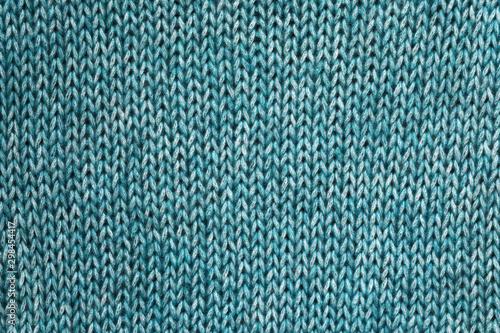 Obraz Green textured Knitted background. - fototapety do salonu