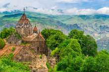 Restoration Of The Monastery Sanahin In A Beautiful Picturesque Place Of Armenia, Sight And Heritage Of UNESCO