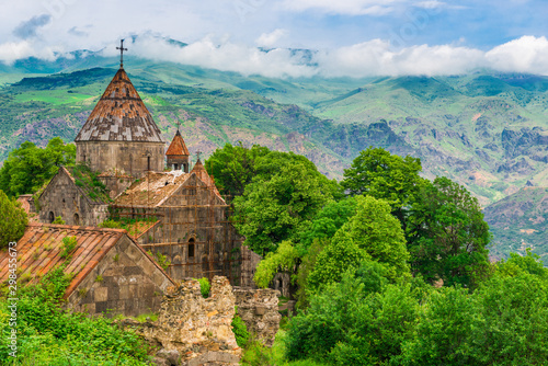 Restoration of the monastery Sanahin in a beautiful picturesque place of Armenia Wallpaper Mural