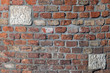 Leinwanddruck Bild - Old brick wall pattern