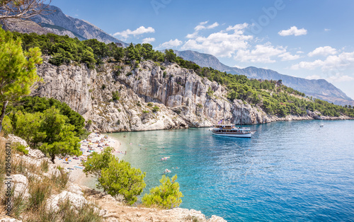 Nugal beach scenery in Croatia Fototapete