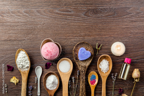 Photo  Making bath bombs at home concept