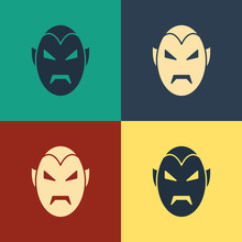 Color Vampire Icon Isolated On...
