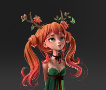 3d Digital Illustration Of Red...