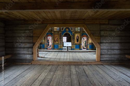 Inside the church of Elijah the Prophet from the village of Verkhny Berezovets Wallpaper Mural