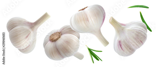 Fototapeta Garlic isolated on white background with clipping path obraz