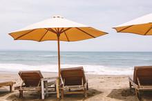 Single Umbrella With Two Beach...