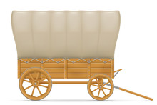 Wooden Wagon Of The Wild West ...