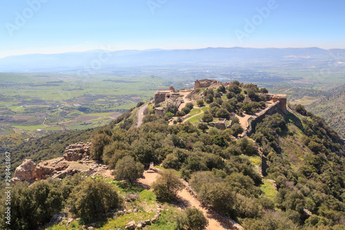 Castle Nimrod Fortress and street on Golan Heights in Israel Wallpaper Mural