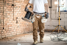 Electrician With Tools, Workin...