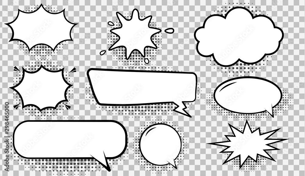 Fototapeta Illustration of spaces for text input.