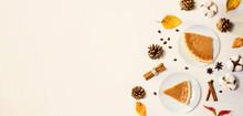 Autumn Theme With Pumpkin Pies...