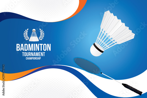 Vector of badminton background. Sports concept Canvas Print