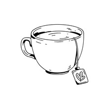 A Cup Of Tea. Hand Drawn Image...