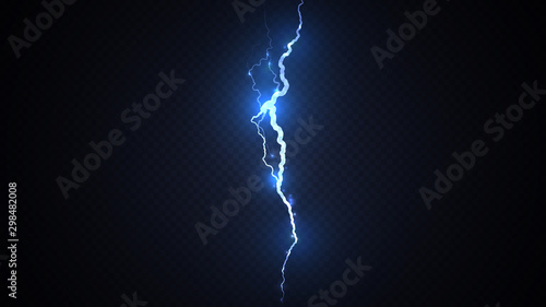 Fotomural Abstract background in the form of blue lightning strike