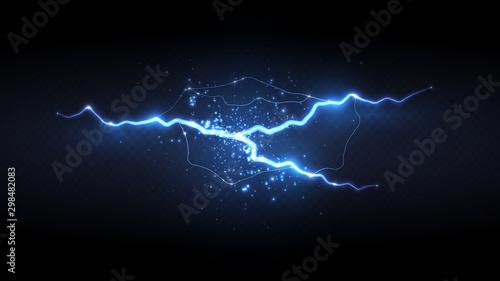Obraz Abstract blue storm grid - fototapety do salonu