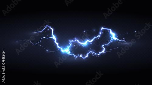 Foto light blue powerful lightning storm