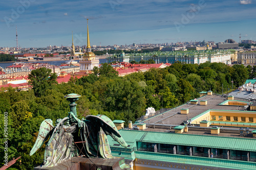 St. Petersburg Russia. Aerial cityscape. The Admiralty Building Wallpaper Mural