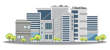 Many Office Buildings In City