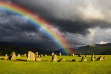 Rainbow Over Castlerigg Stone ...