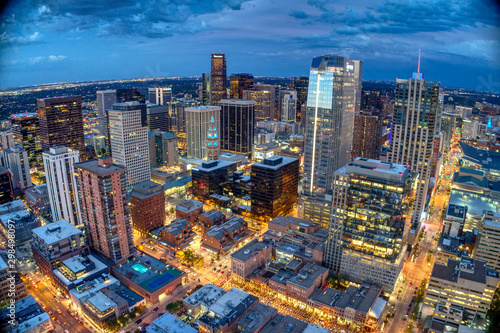 Downtown Denver West over Larimer Square