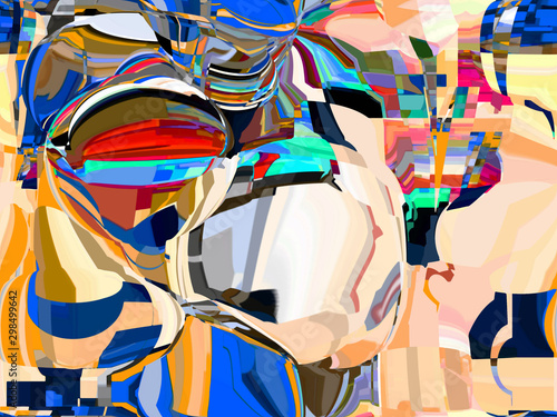 Fotobehang Paradijsvogel Abstract colored pattern. Digital art design
