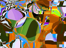 Abstract Colored Pattern. Digi...