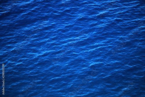 Montage in der Fensternische Dunkelblau Surface of blue Adriatic sea , natural background