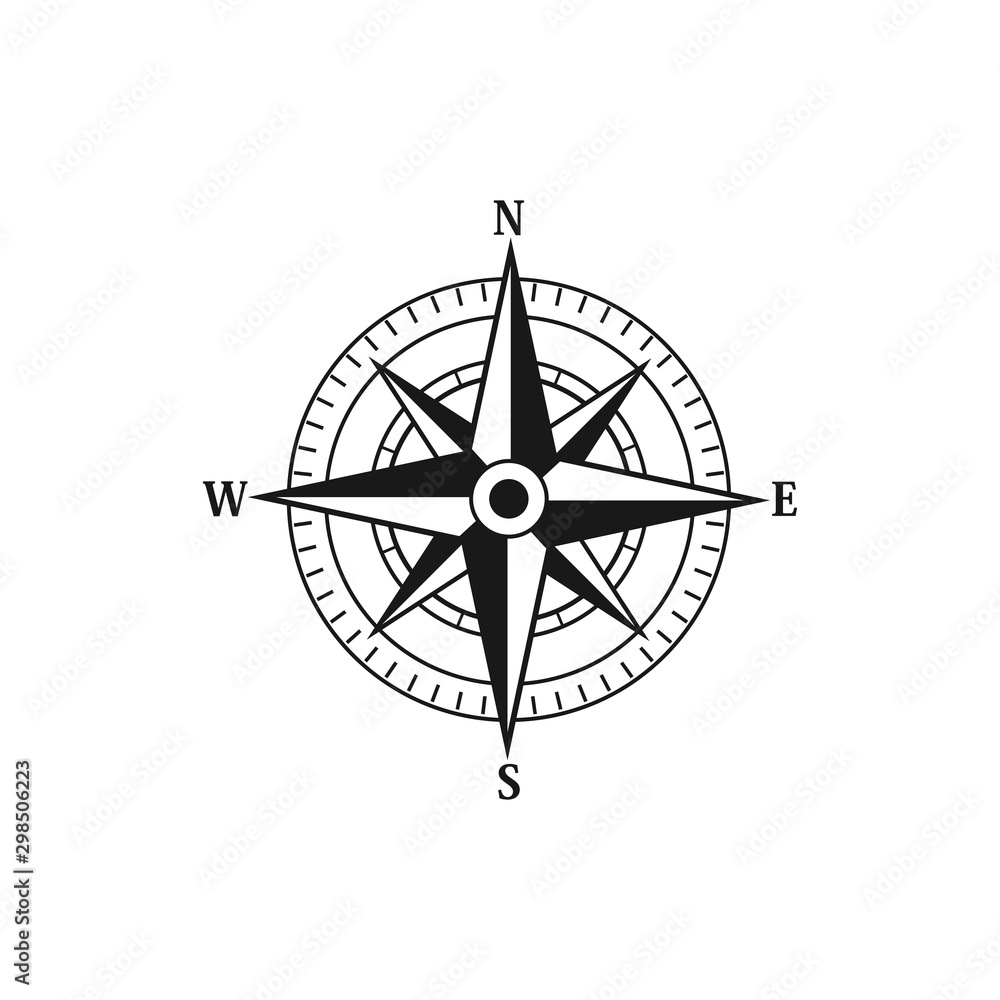 Fototapety, obrazy: Compass navigation logo icon vector templates