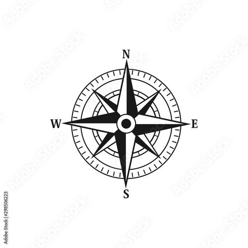 Compass navigation logo icon vector templates Obraz na płótnie