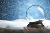 Empty snow globe Christmas background