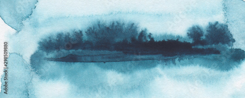 Photo Stands Roe Abstract watercolor brush strokes painted background. Texture paper. Horizontal long banner..