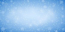 Snow Blue Background. Christma...