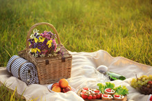 Picnic Blanket With Different ...