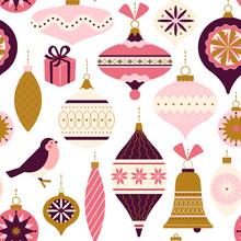Seamless Pattern. Christmas De...