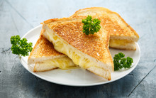 Grilled Cheese Cheddar Sandwic...