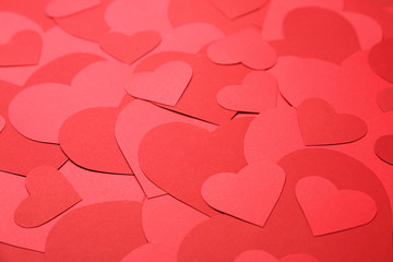 Beautiful red paper hearts ...