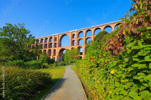 Göltzschtalbrücke im Vogtland in Deutschland - Goeltzsch Viaduct railway bridge Canvas Print